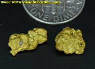 1.95 Grams (2) Sonora Mexico Gold Nuggets