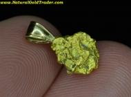1.49 Gram Mexico Placer Gold Nugget Pendant