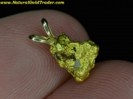 1.53 Gram Mexico Placer Gold Nugget Pendant