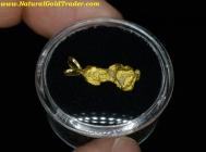 1.59 Gram Mexico Placer Gold Nugget Pendant