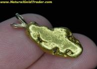 7.71 Gram American Riv CA Gold Nugget Pendant