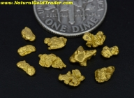 1.69 Grams (10) California Gold Nuggets