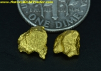 2.26 Grams (2) Australia Placer Gold Nuggets