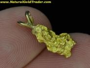 1.64 Gram Australia Gold Nugget Pendant