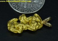 2.98 Gram W. Australia Gold Nugget Pendant