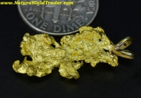 3.96 Gram W. Australia Gold Nugget Pendant