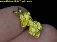 3.97 W. Gram Australia Gold Nugget Pendant