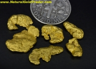 .25 ozt. 7.77 Grams (6) Alaska Gold Nuggets