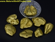 13.70 Grams (8) Yukon Canada Gold Nuggets