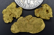 4.65 Grams (3) Oregon Gold Nuggets