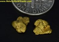 1.34 Grams (2) Fortymile Alaska Gold Nuggets