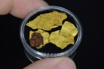 4.46 Grams (3) California Leaf Gold Nuggets