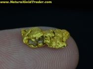1.61 G. Golden Triangle Mexico Gold Nugget