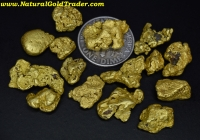 1 ozt.+ 31.25 Grams (15) Yukon Can Gold Nuggets