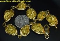 44.25 Gram (8) Alaska Gold Nugget Bracelet