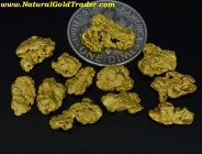 .25 ozt.+ 7.86 Grams (12) Nolan AK Gold Nuggets