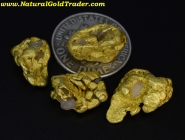 11.32 Grams (4) Gold Creek MT Gold Nuggets