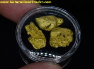 .25 ozt + 7.84 Grams (3) Montana Gold Nuggets
