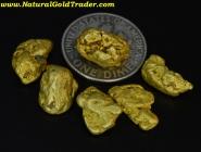 10.98 Grams (6) Natural Montana Gold Nuggets