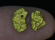 2.06 Grams (2) Baker Oregon Gold Nuggets