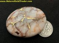 20.76 Grm. El Dorado CA Gold & Quartz Cabochon