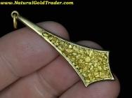 4.44 G. Alaska Soldered Gold Flake Pendant