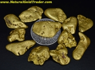 1 ozt.+ 32.10 Grams (12) Murray ID Gold Nuggets