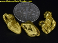 10.28 Grams (3) Canada Placer Gold Nuggets