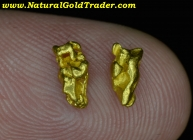 .96 Grams (2) California Placer Gold Nuggets