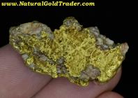 15.00 Gram Silver Valley ID. Gold Vein Specimen