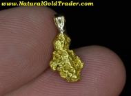 .98 Gram Alaska Gold Nugget Pendant