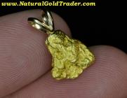 2.43 Gram AK. Placer Gold Nugget Pendant