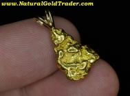 4.98 Gram Alaska Placer Gold Nugget Pendant
