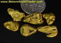 10.12 Grams (6) Natural Alaskan Gold Nuggets