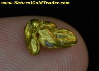 1.24 G. Alaska Natural Gold Nugget Specimen