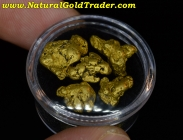 10.18 G. (5) Canadian Natural Gold Nuggets