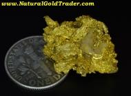17.32 G Round Mountain Nevada Gold Nugget