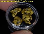 10.87 Grams (4) Canada Gold & Quartz Nuggets