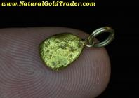 1.65 G. Natural Alaska Gold Nugget Pendant
