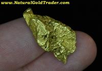 8.08 G. Natural Alaska Gold Nugget Pendant