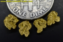 1.29 Grams (4) Northern Nevada Gold Nuggets