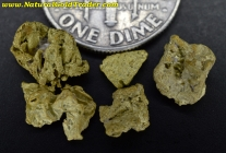 2.76 Grams (5) Nevada Gold Nuggets