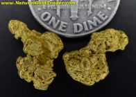 3.90 Grams (2) Nevada Placer Gold Nuggets