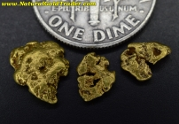 1.41 Grams (3) Alaska Placer Gold Nuggets