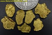 3.72 Grams (7) Alaska Placer Gold Nuggets