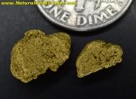 1.42 Grams (2) Alaska Placer Gold Nuggets