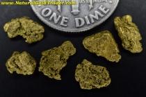 1.46 Grams (6) Alaska Placer Gold Nuggets