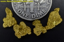 2.79 Grams (4) Nevada Gold Nuggets