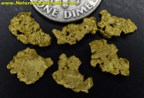 3.28 Grams (6) Northern Nevada Gold Nuggets